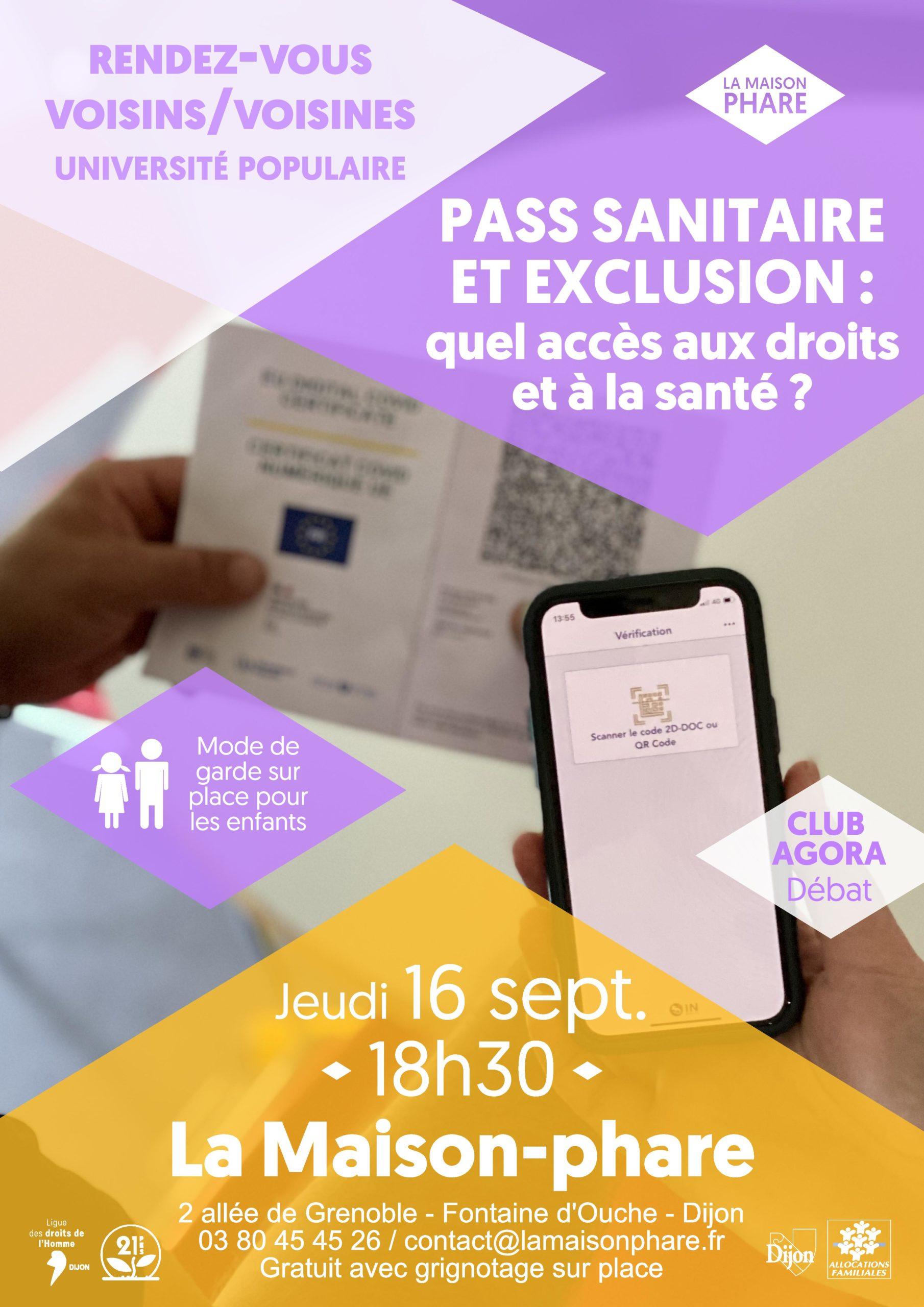 Rendez-Vous Voisins/Voisines : pass sanitaire et exclusion, quel accès aux droits et à la santé ?